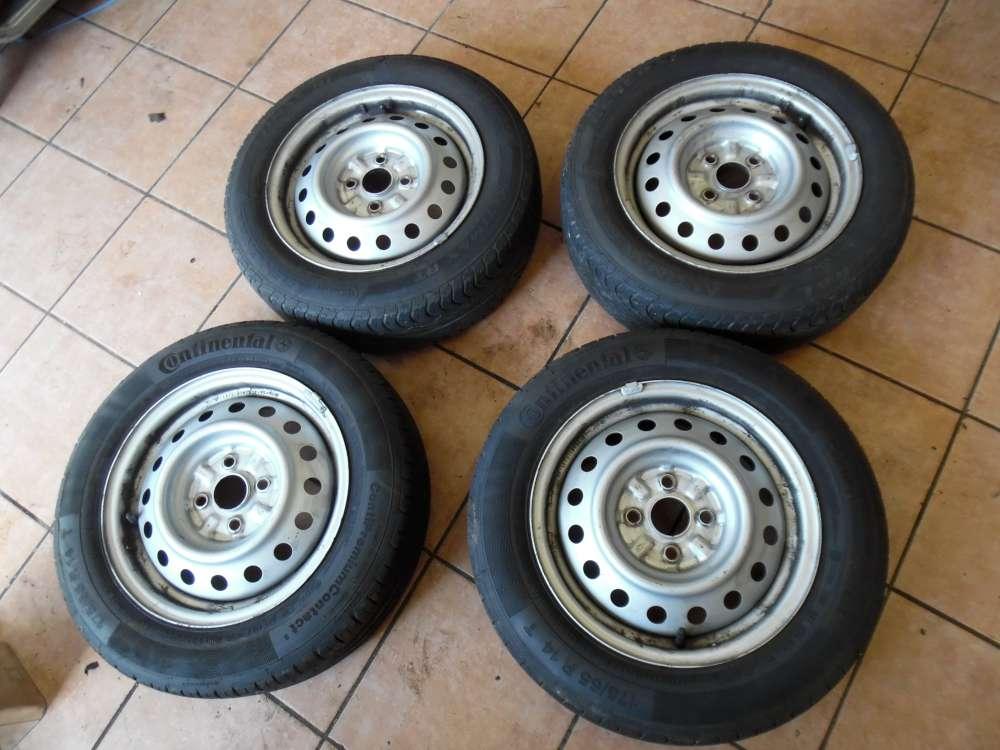 4x Stahlfelgen mit Reifen Sommerreifen Continental Für Toyota Yaris P1 175/65 R14 82T   14x15,1/2J