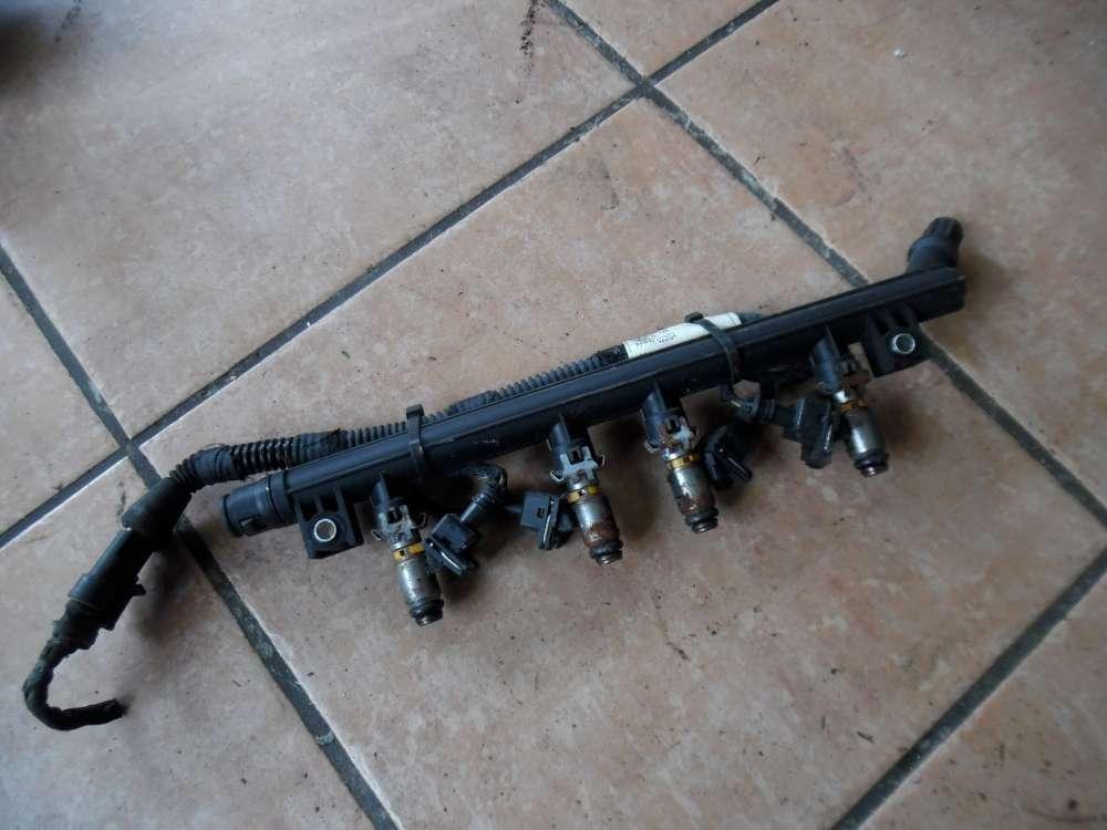 Fiat Punto 199 Einspritzleiste mit Kabelbaum 0077425B