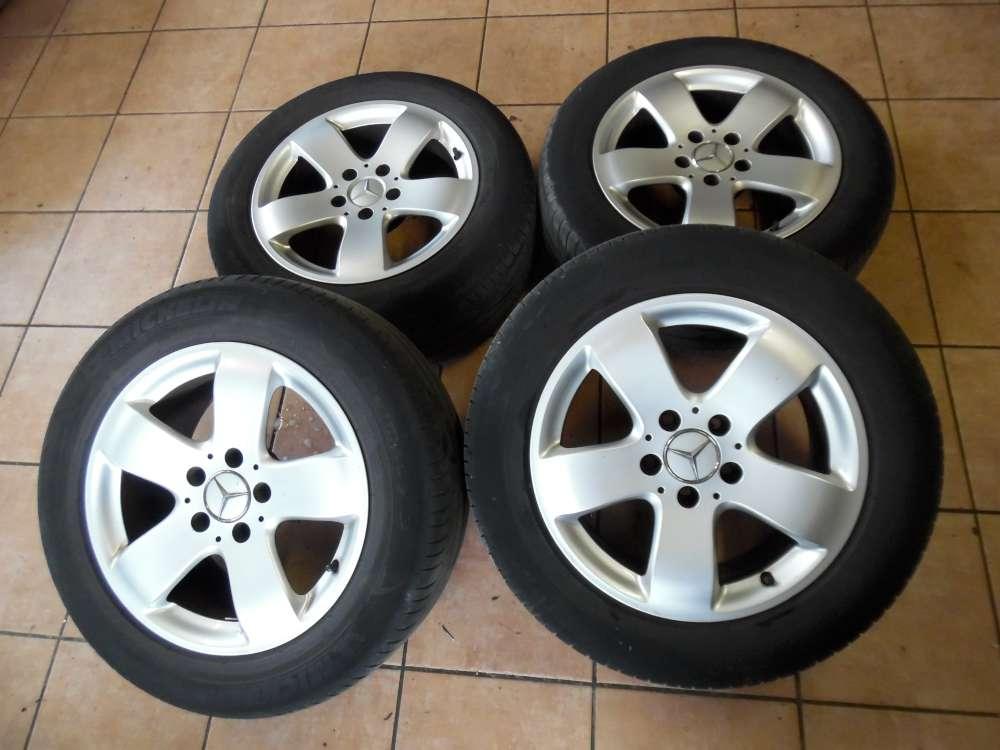 4x Alufelgen mit Sommerreifen Michelin für Mercedes E-Klasse W211 Felgen 7,5 x 16 ET42  225/55 R16 95W A 2114014502