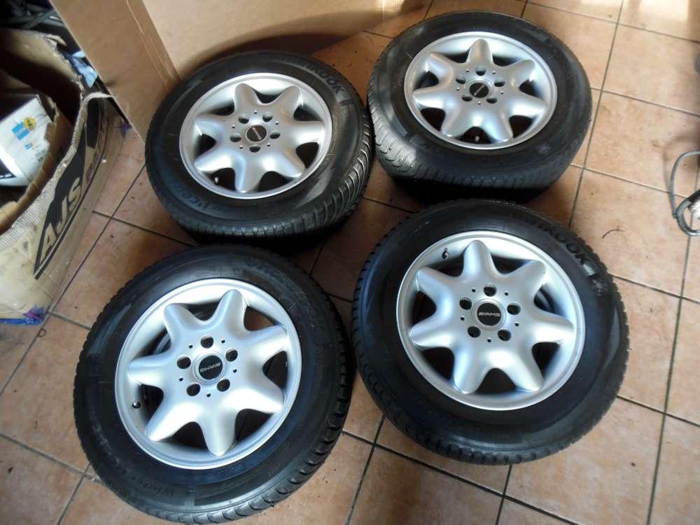 4x Alufelge mit Reifen Winterreifen für Mercedes C-Klasse W203  195/65R15 91T  6Jx15H2 ET 31 2034010002