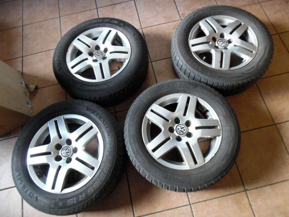 4x Alufelgen Winter Für VW Golf 4 195/65R15 91T  6JX15 H2  1J0601025  ET38
