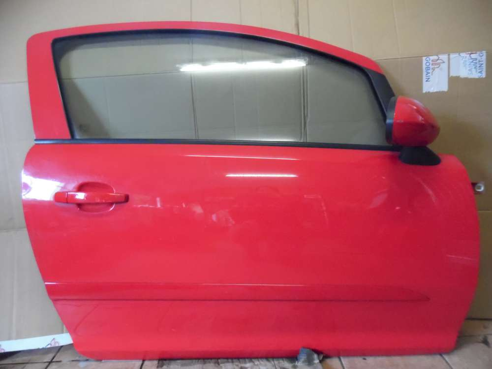 Opel Corsa D 3-Türer Tür Vorne Rechts Rot Farbcode : Z547