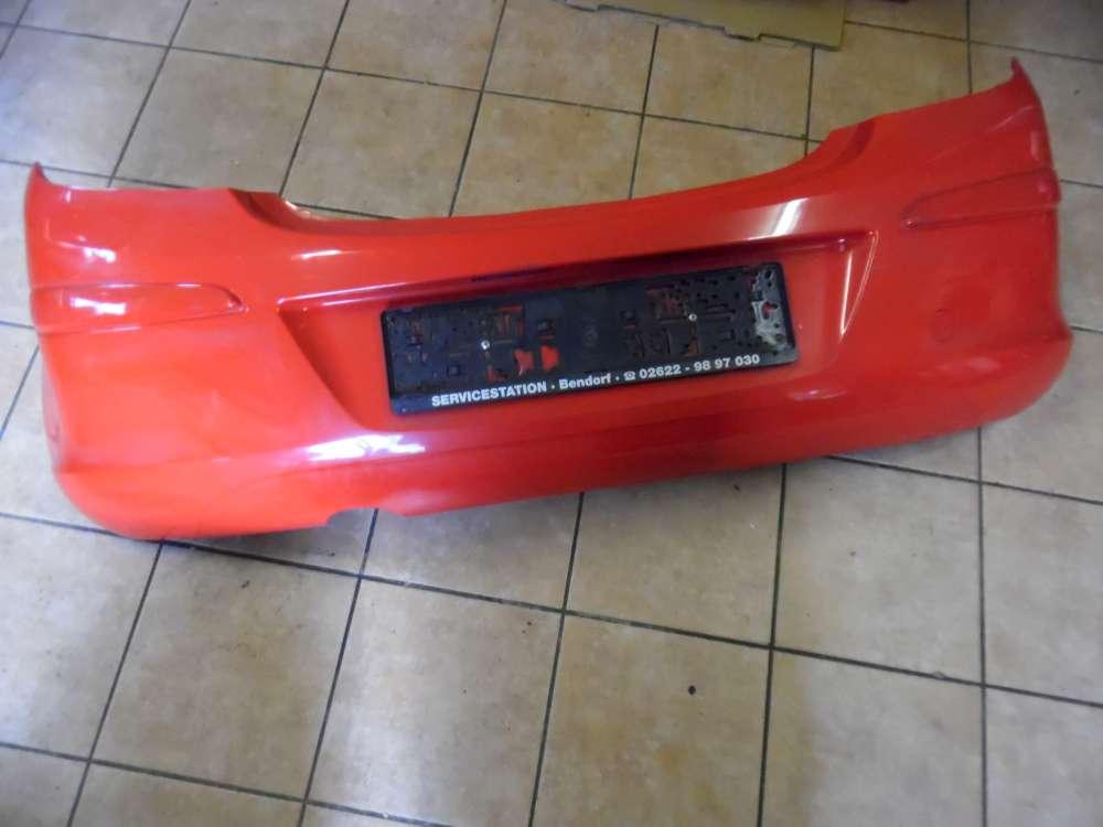 Opel Corsa D 3-Türer Stoßstange Hinten 13179893 Rot Farbcode : Z547