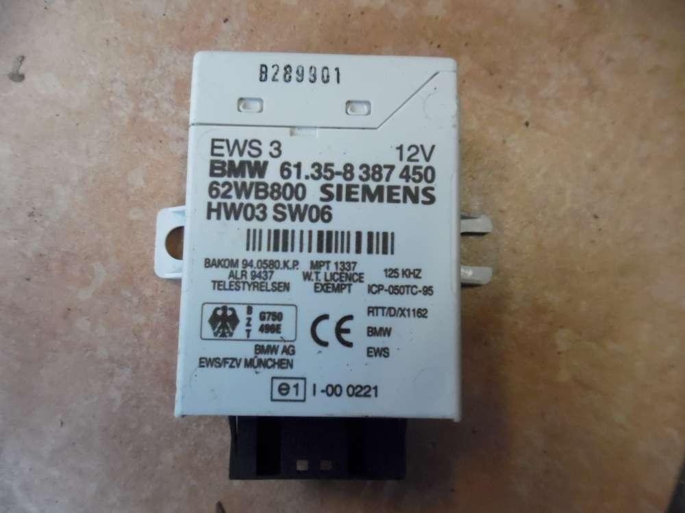 BMW 3-er E46 Steuergerät EWS 3 61.35- 8387450