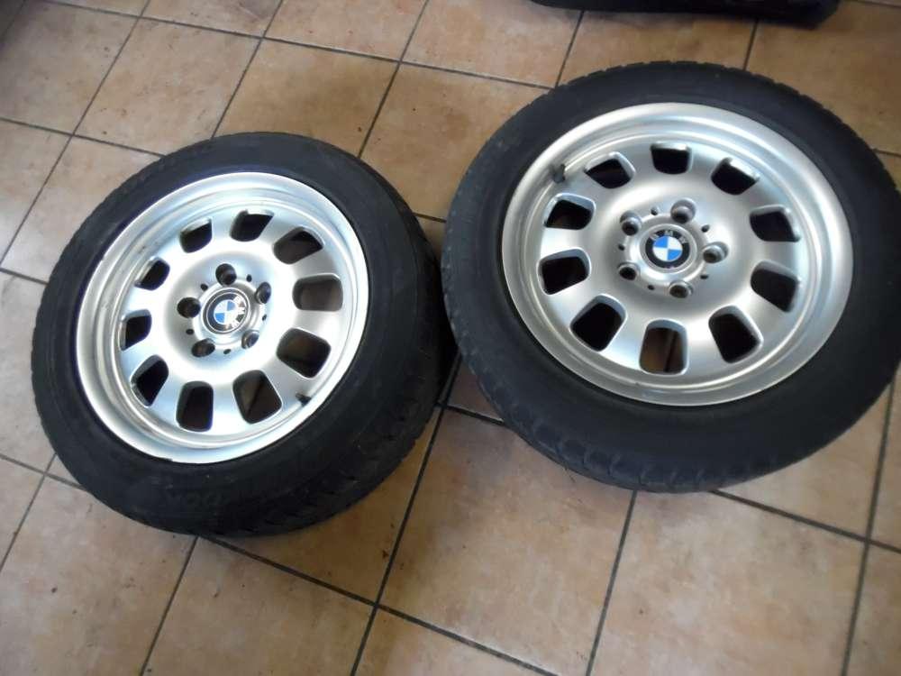 2x Alufelgen mit Reifen für BMW E46 Ganzjahresreifen Hankook 205/55 R16 91H 1094502 7J x 16H2  ET47
