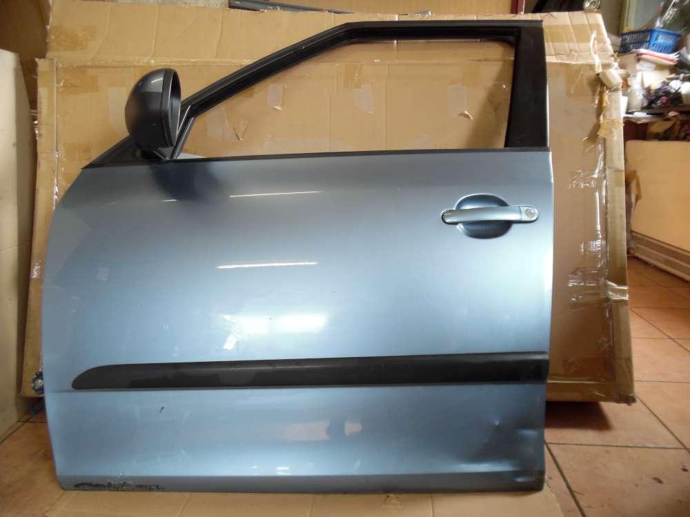 Skoda Fabia II Limousine Tür Vorne Links Grau Farbcod: 9154