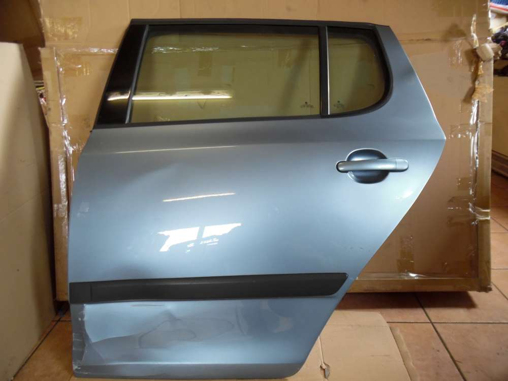 Skoda Fabia II Limousine Tür Hinten Links Grau Farbcod: 9154