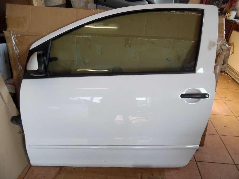 VW Fox 5Z 3-Türer Tür Vorne Links Weiß Farbcod : LB9A