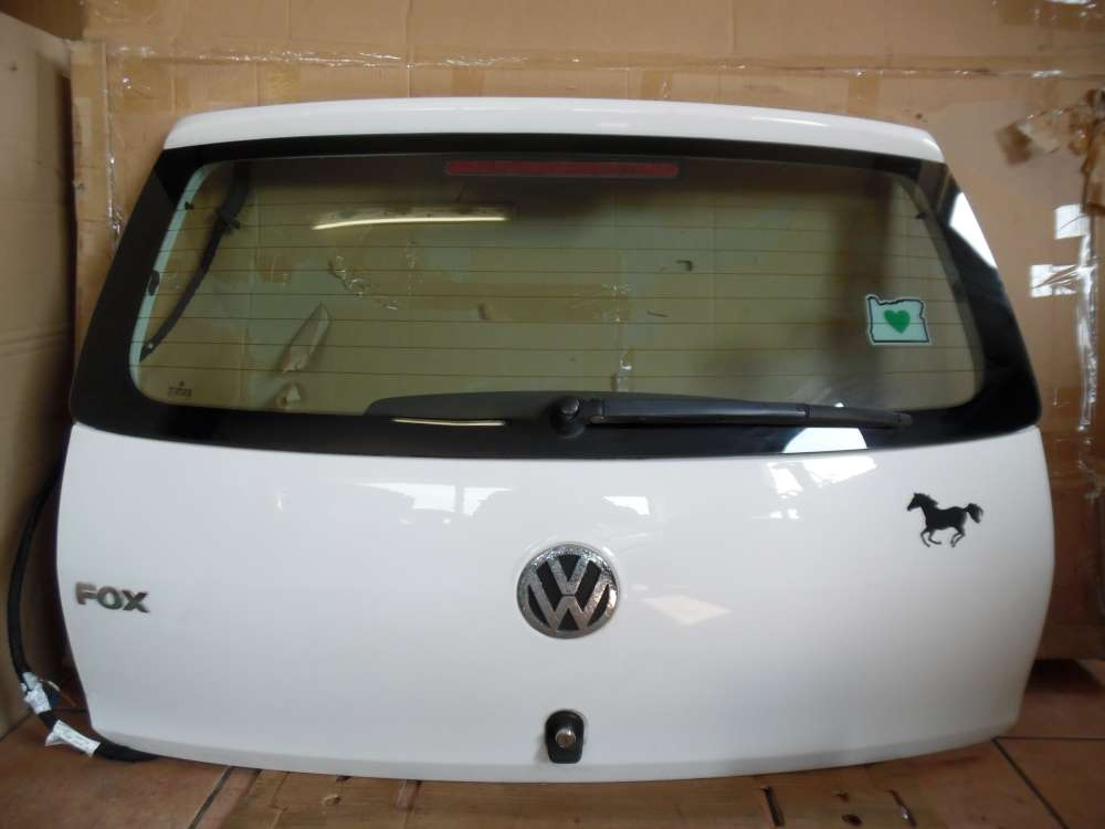 VW Fox 5Z 3-Türer Heckklappe Weiß Farbcod : LB9A