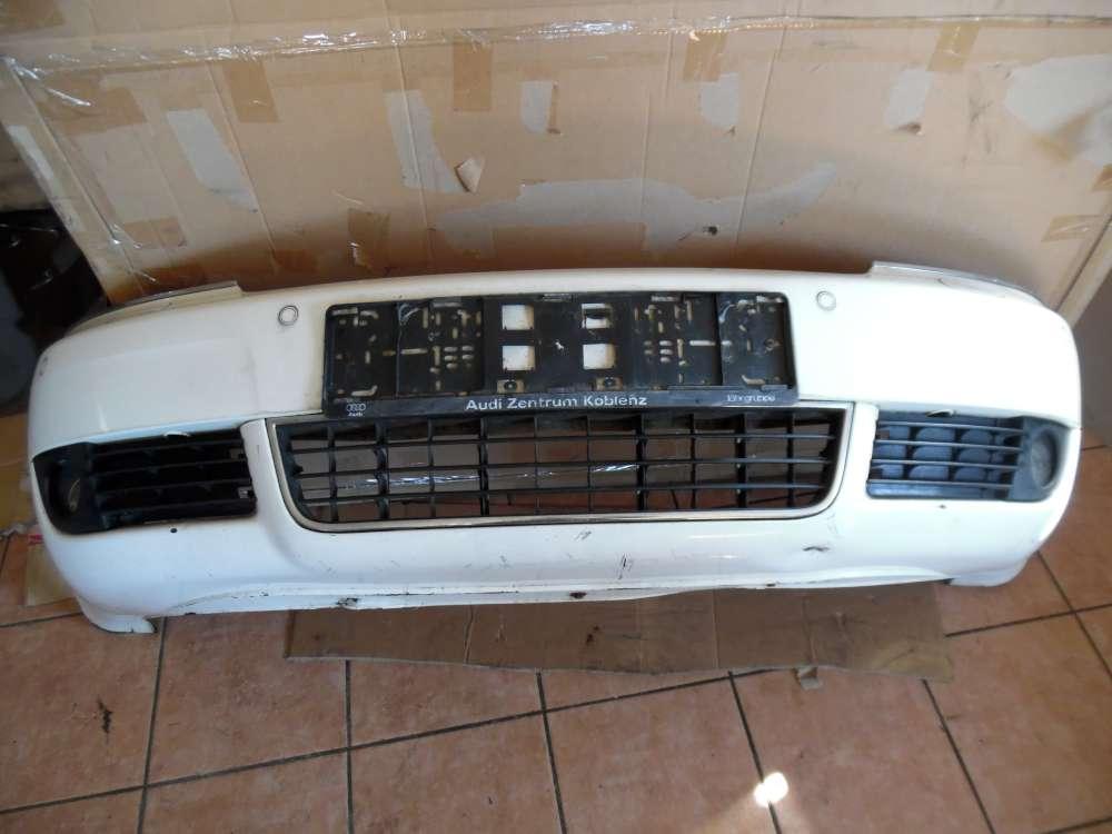 Audi A6 4B Kombi Stoßstange Vorne mit Nebelscheinwerfer, Parksensor PDC, Spritzdüse und Trager weiß Farbcod : LY9D