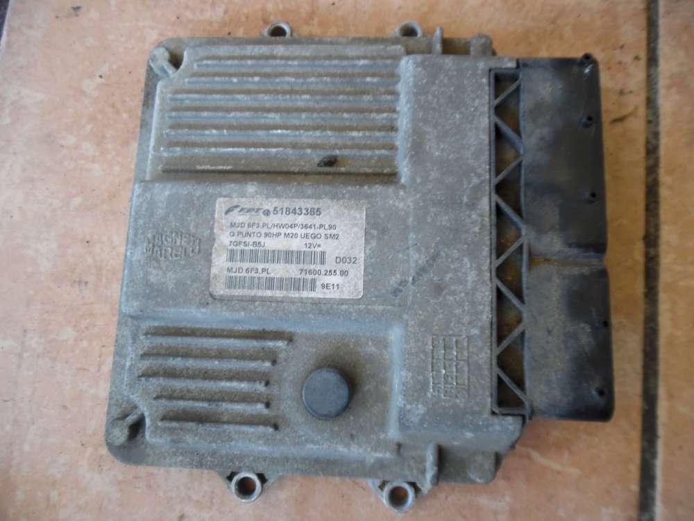 Fiat Punto 199 Motorsteuergerät Steuergerät 51843365