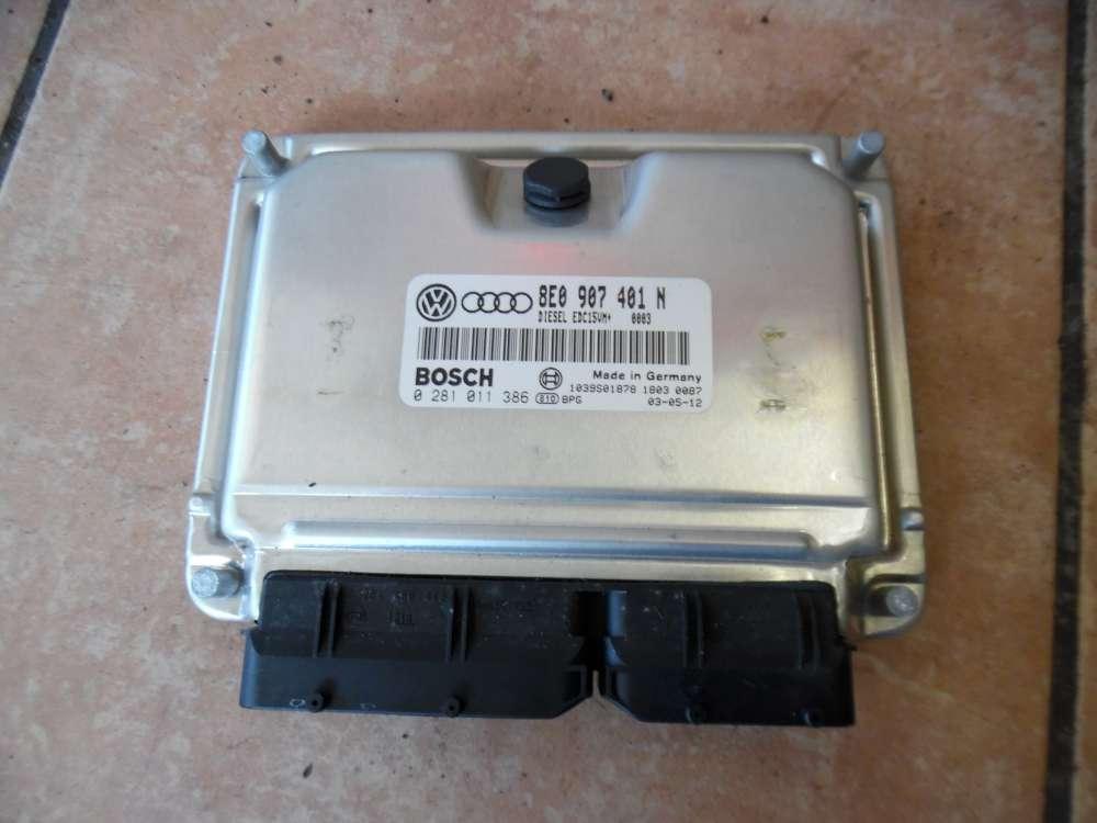 Audi A6 4B Motorsteuergerät Steuergerät 8E0907401N Bosch 0281011386