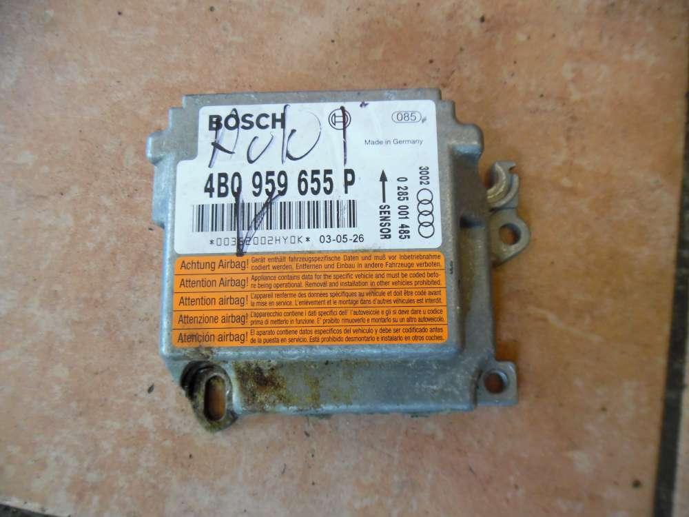 Audi A6 4B Steuergerät Airbagsteuergerät 4B0959655P Bosch 0285001485