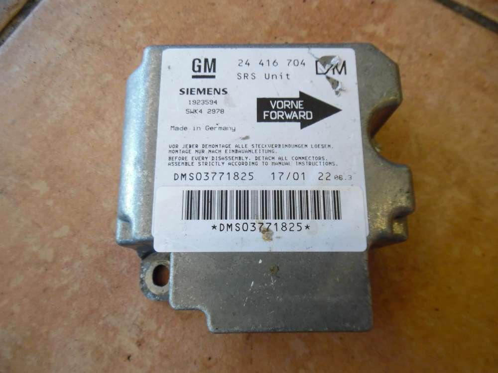 Opel Zafira A Aitbagsteuergerät Steuergerät 24416704