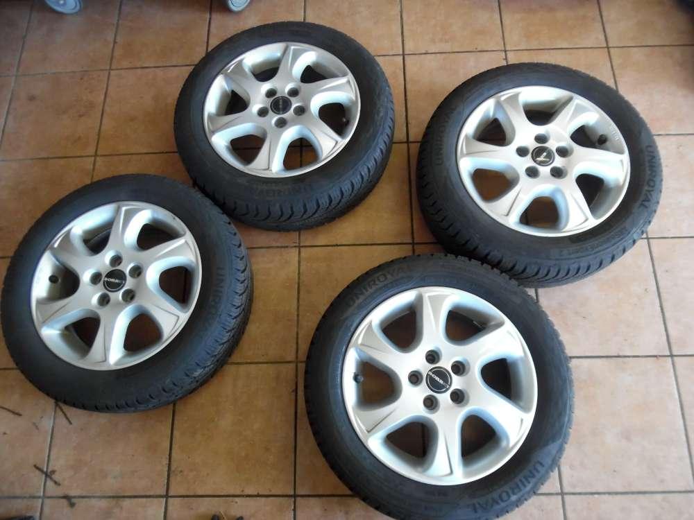 4x Alufelgen mit Reifen Uniroyal für Skoda Fabia Winterreifen 195/55 R15 85H 6Jx15H2  KBA 47732  ET40