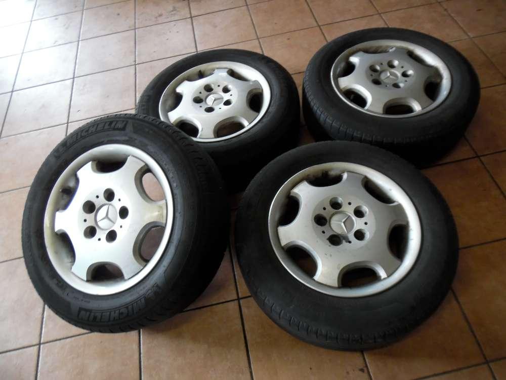 4x Alufelgen mit Reifen Michelin für Mercedes W202  Sommerreifen 195/65R15 91V   6,5Jx15H2   ET37 B66470075