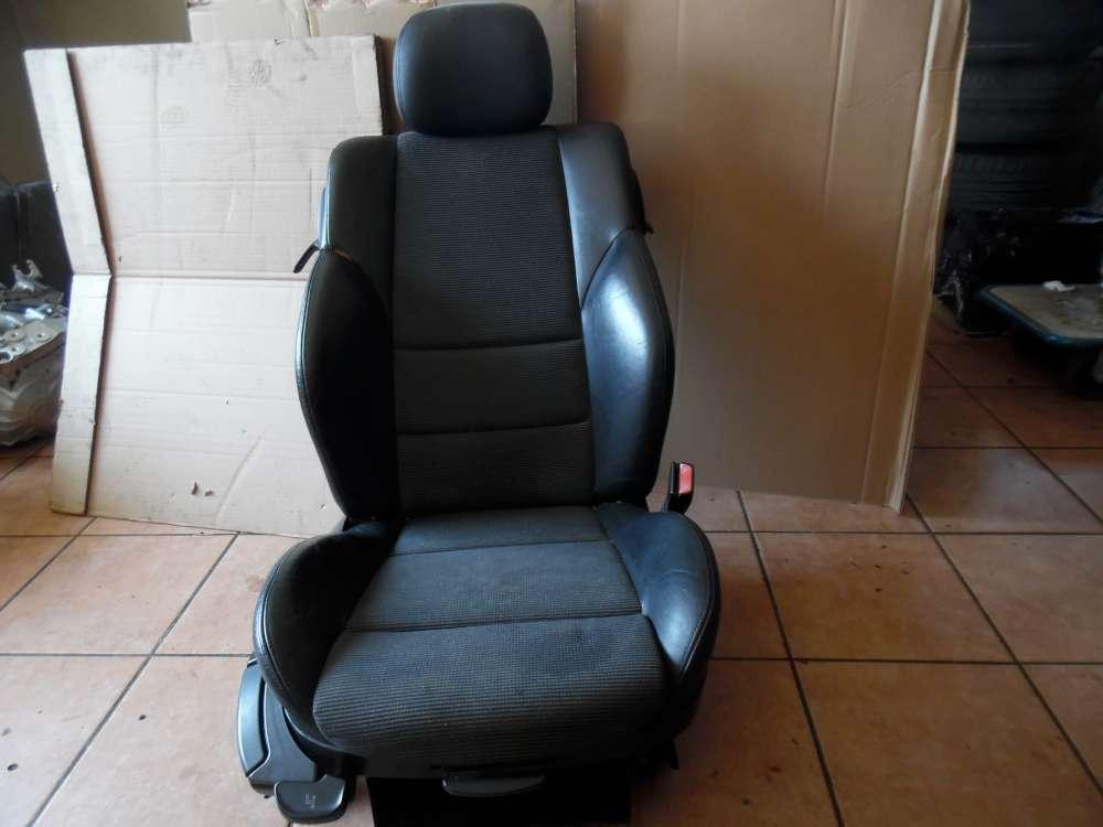 BMW 3er E46 Compact Sitz Vorne Rechts Teilleder schwarz