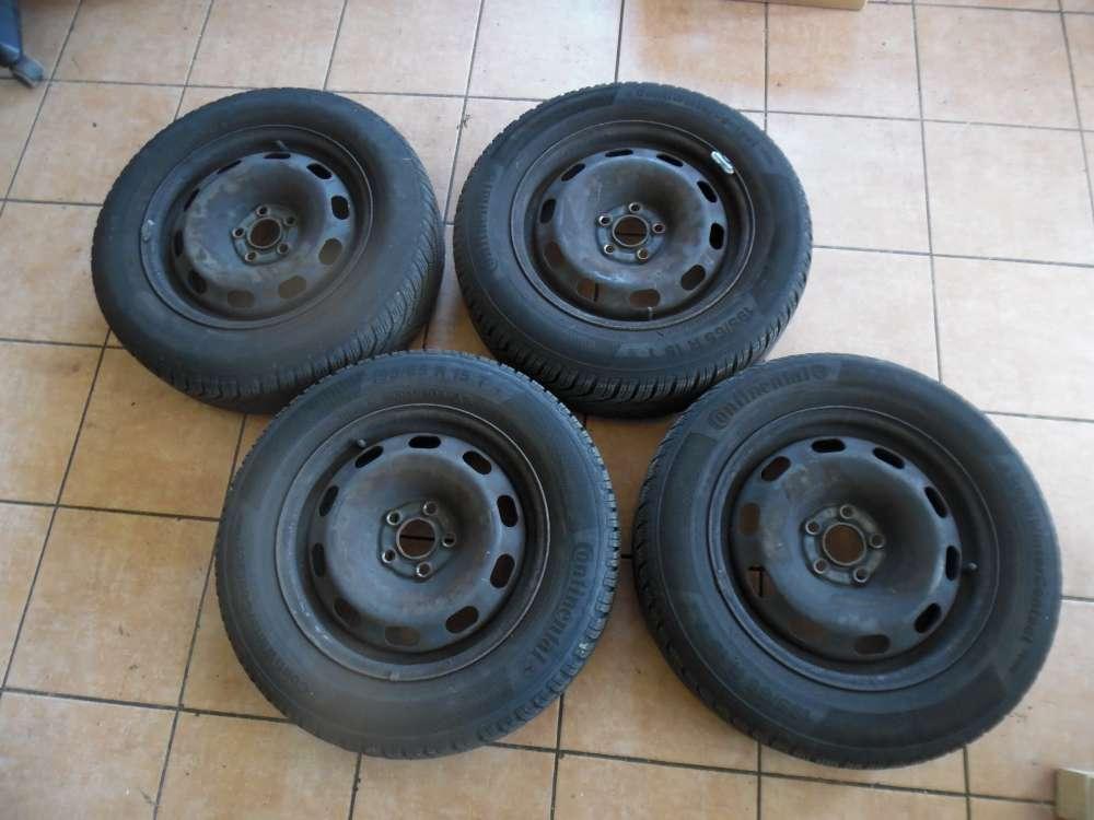 4x Stahlfelge mit Reifen Winter Continental VW Golf 4 SRD 152503 6Jx15H2 ET38  195/60 R15 91T