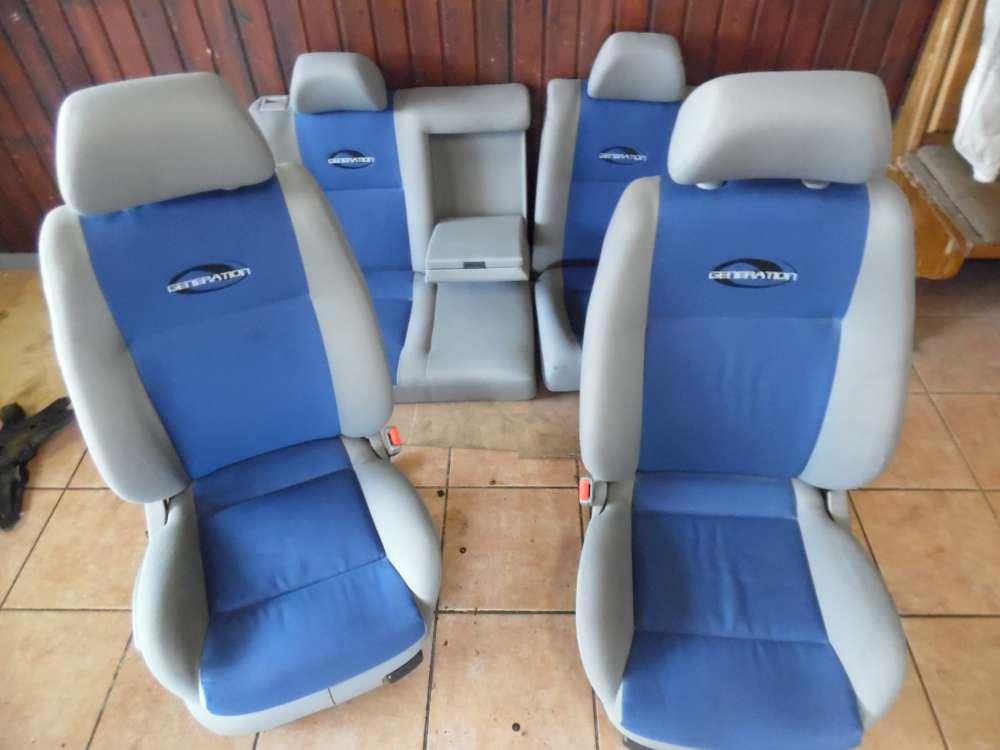 VW Golf IV 1J Sitze Innenausstattung Stoff grau / blau