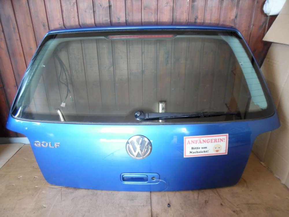 VW Golf IV 1J Heckklappe Kofferraumklappe Blau Farbcod : LW5Y