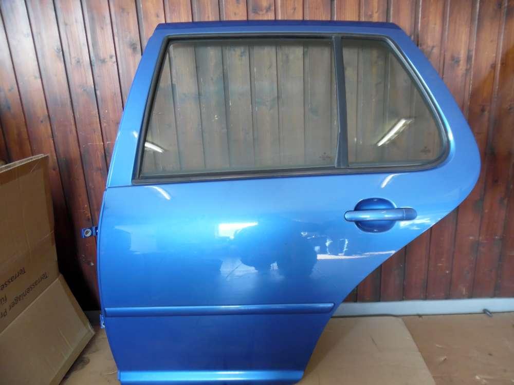 VW Golf IV 1J Tür Hinten Links Blau Farbcod : LW5Y