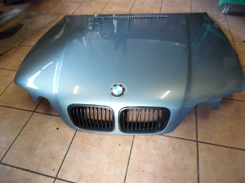 BMW E46 316ti Motorhaube Graugrün Farbcod : 442/6