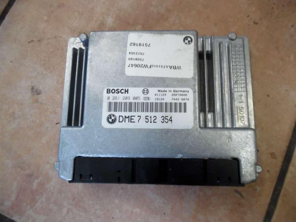 BMW E46 316ti Motorsteuergerät Steuergerät Bosch 0261209005 7512354