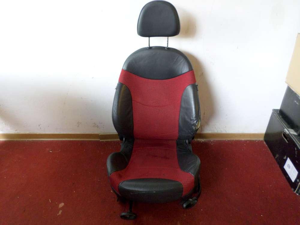 Mini Cooper Fahrersitz vorne links  Farbe: grau/rot Leder Sitze