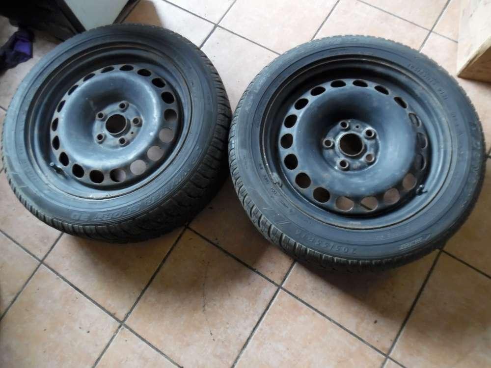 2x Stahlfelge mit Winterreifen Für VW Passat 3C 6,5Jx16H2 ET42 3C0601027 205/55 R16 91H M+S Dunlop