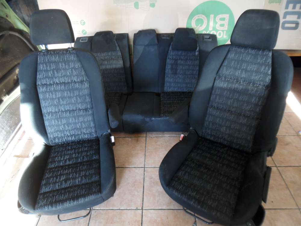 Peugeot 307 Sitze Innenausstattung Schwarz Stoff