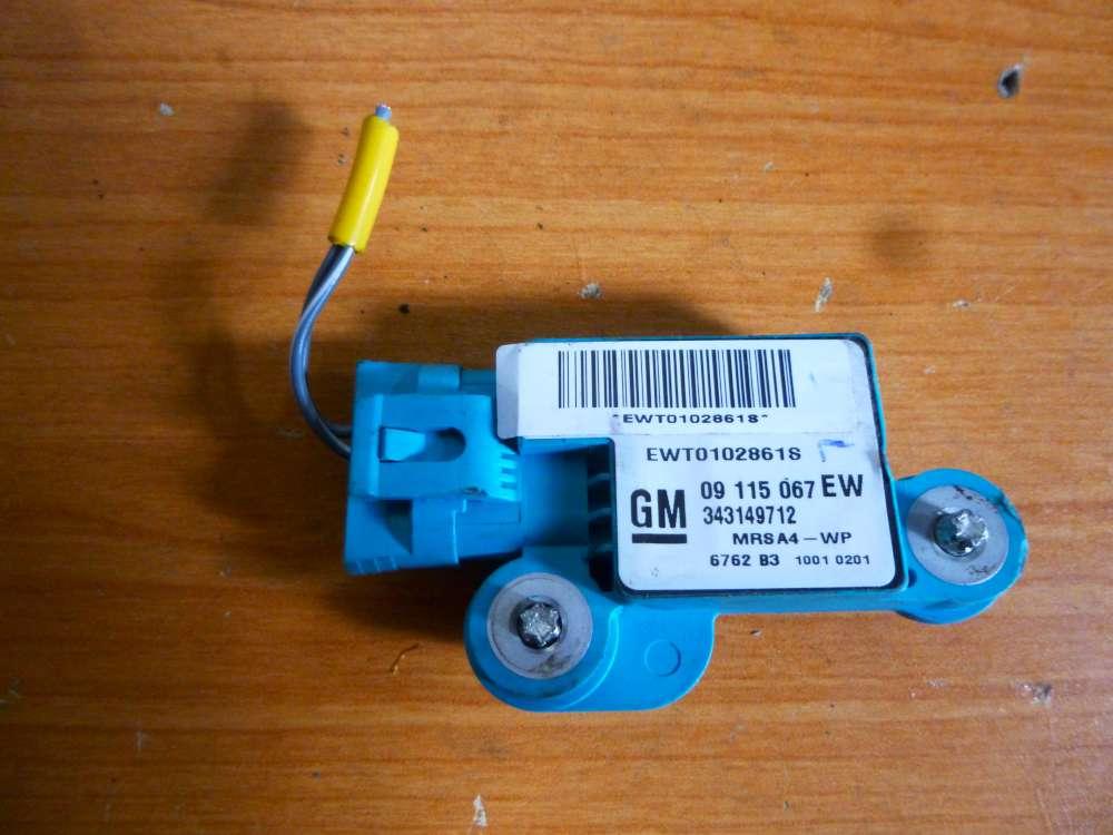 Opel Corsa C Bj 2001 Airbag Steuergerät Sensor links 09115067 EW 343149712