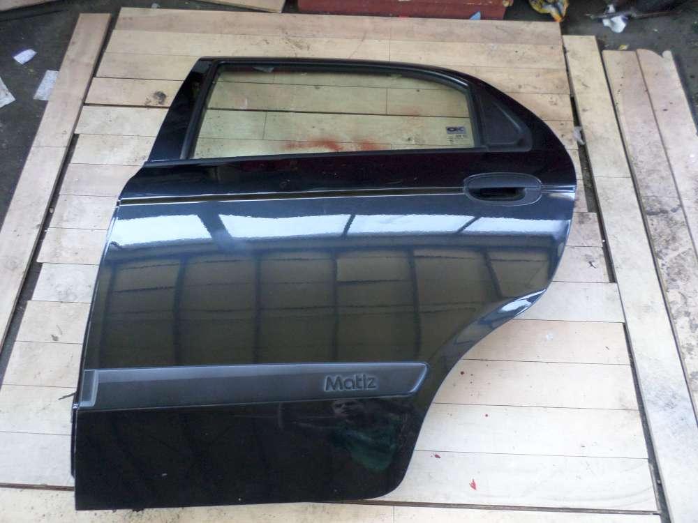 Tür Hinten Links Orginal Chevrolet Matiz Bj.2007 Farbcode:87U Schwarz