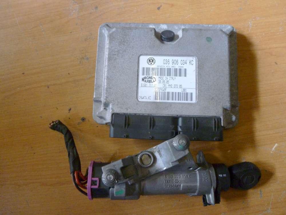 Seat Ibiza Bj.2005 Motorsteuergerät Zündschloss mit Schlüssel Lenkradschloss Benzin 036906034KC  4B0905851C