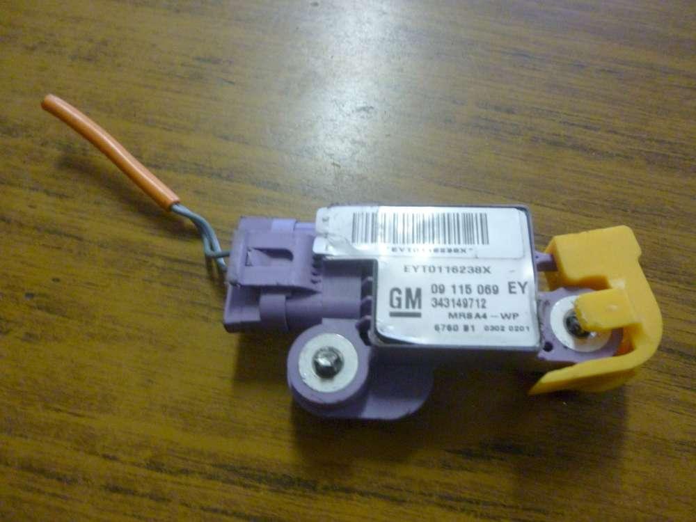 Opel Corsa C Bj:2002 Airbagsensor Crash Sensor Links 09115069