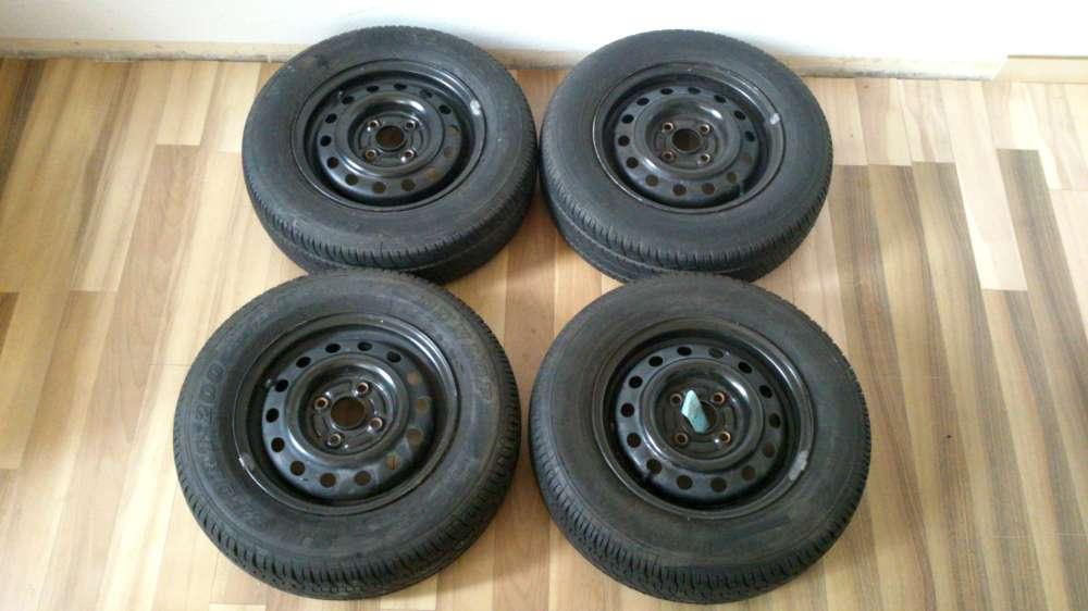4 x Stahlfelgen Sommerreifen Honda Civic 1992 5J x13  Reifen 175/70 R13 82 H