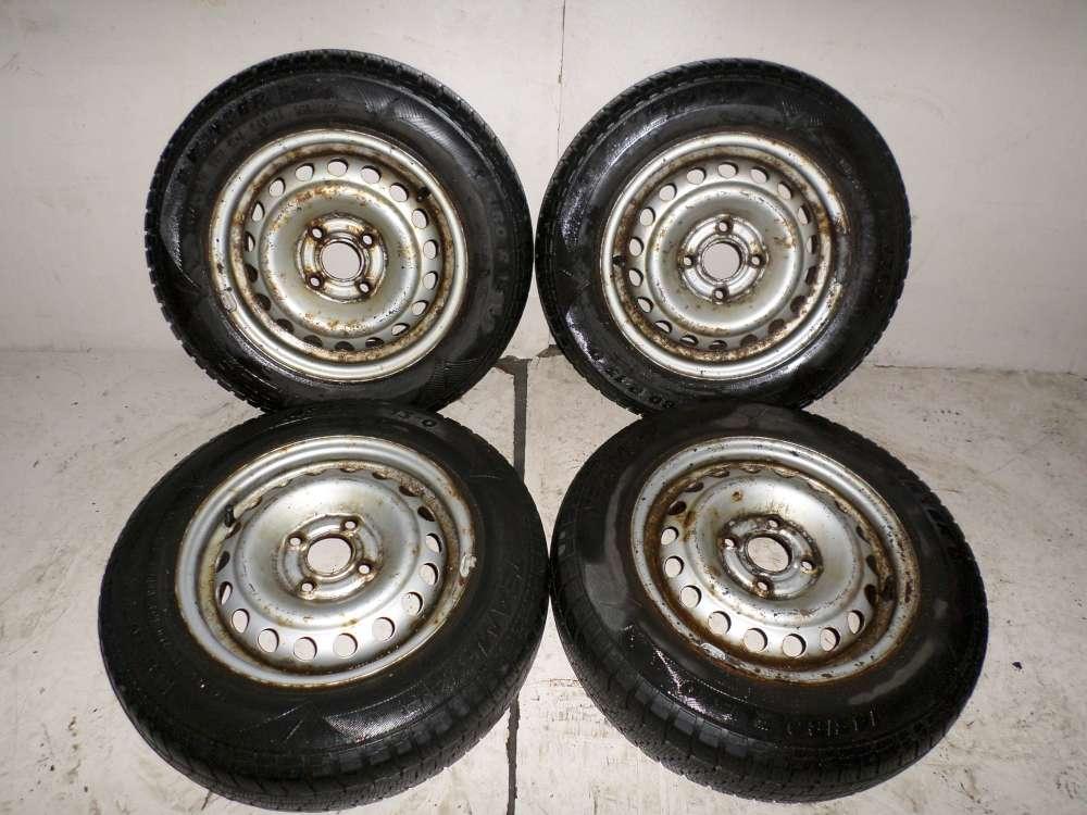 4 x Winterreifen Stahlfelgen Opel Corsa B  145/80R13 75Q Felgen 5Jx13H2 ET49
