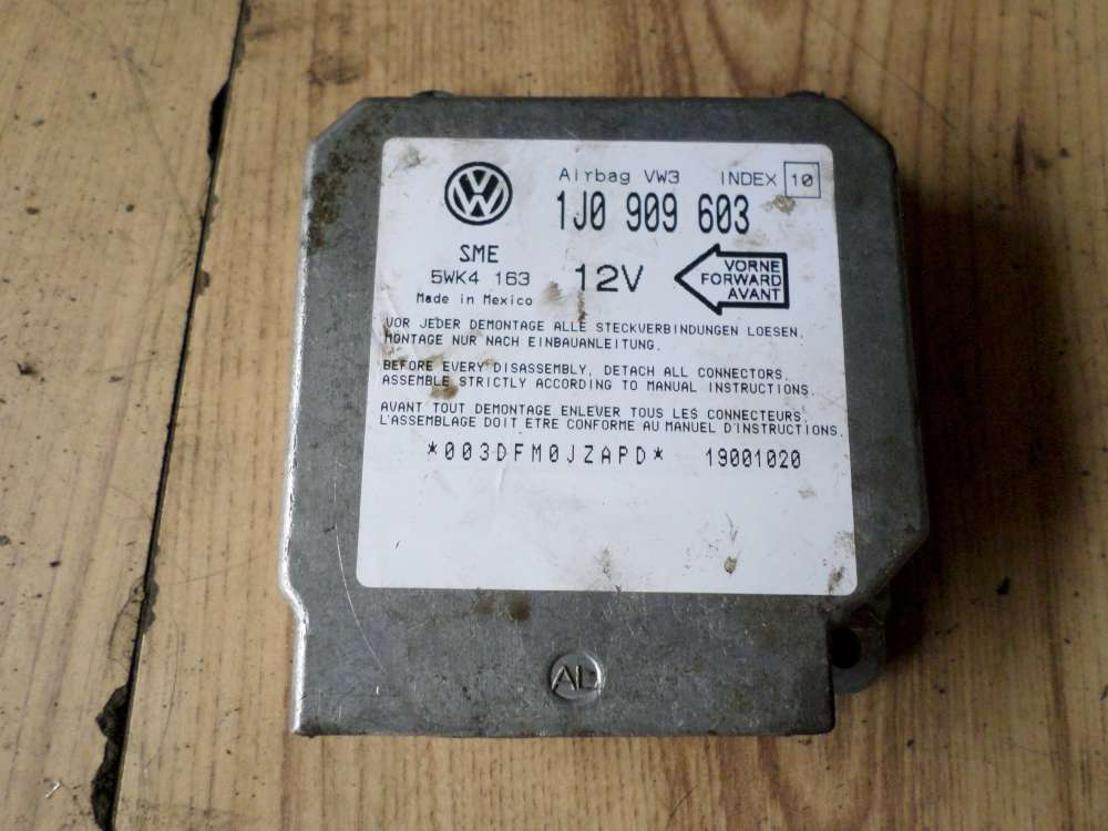 VW Lupo Steuergerät Airbag 1J0909603